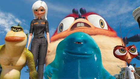 Screenshot aus «Monsters vs. Aliens».