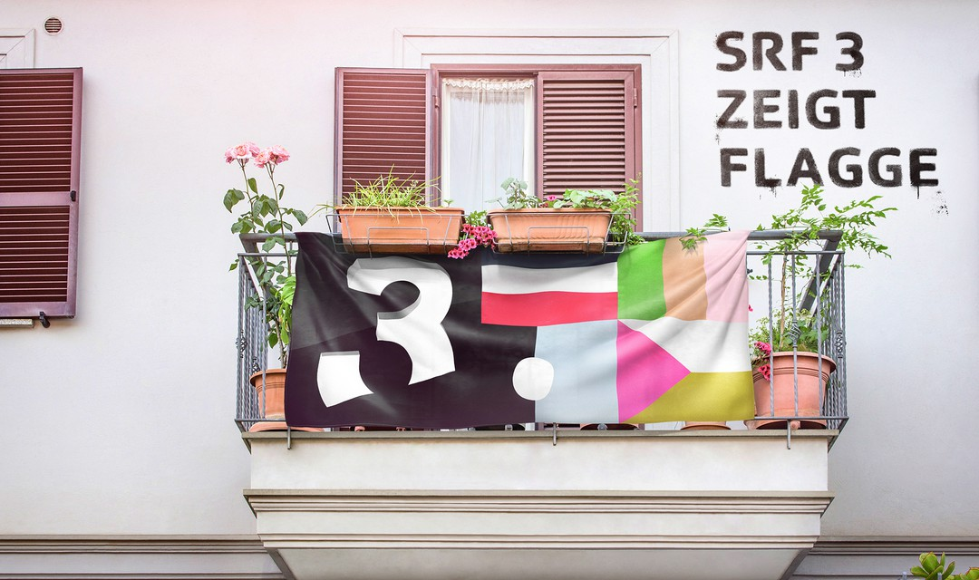 Keyvisual «SRF 3 zeigt Flagge».
